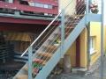 Stahlwangen-Außentreppe