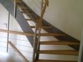 Stahlwangentr.-ES-Seilsystem-ES-Pfosten-Holzhandlauf
