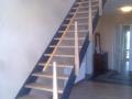 Stahlwangentr.-ES-Seilsystem-Holzpfosten-Holzhandlauf