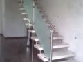 Steintreppe, ES-Bolzensystem, ES-Pfosten, Glas, ES-Handlauf